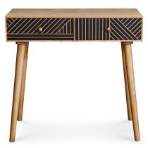 "Console Design 2 Tiroirs ""Savana"" 80cm Naturel"