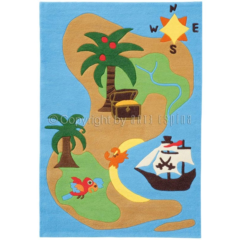 tapis arte espina kids pirates multicolore. Black Bedroom Furniture Sets. Home Design Ideas