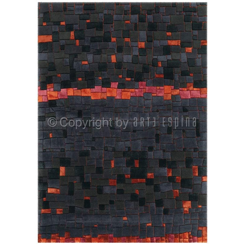 tapis arte espina mosaic anthracite. Black Bedroom Furniture Sets. Home Design Ideas