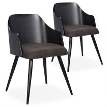 "Lot de 2 Chaises Scandinaves ""Adny"" 73cm Noir"