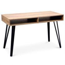 "Bureau Design 2 Niches ""French"" 120cm Naturel"