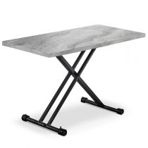 "Table Basse Relevable ""Becca"" 120cm Gris"