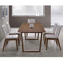 "Table de Repas ""London"" Marron"