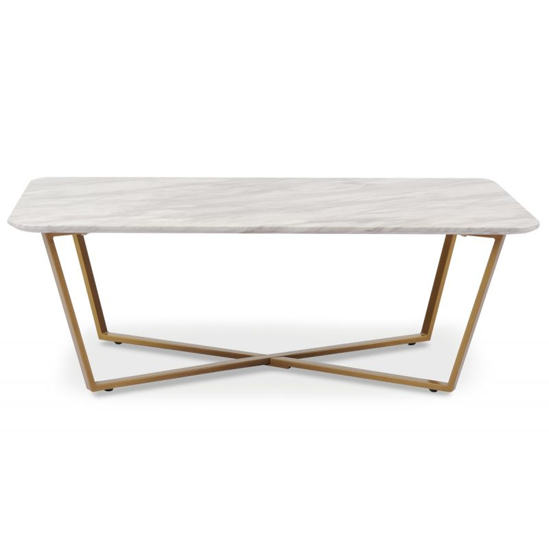 Table Basse Effet Marbre \