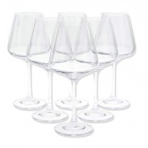 "Lot de 6 Verres à Eau ""Selenga"" 450ml Transparent"