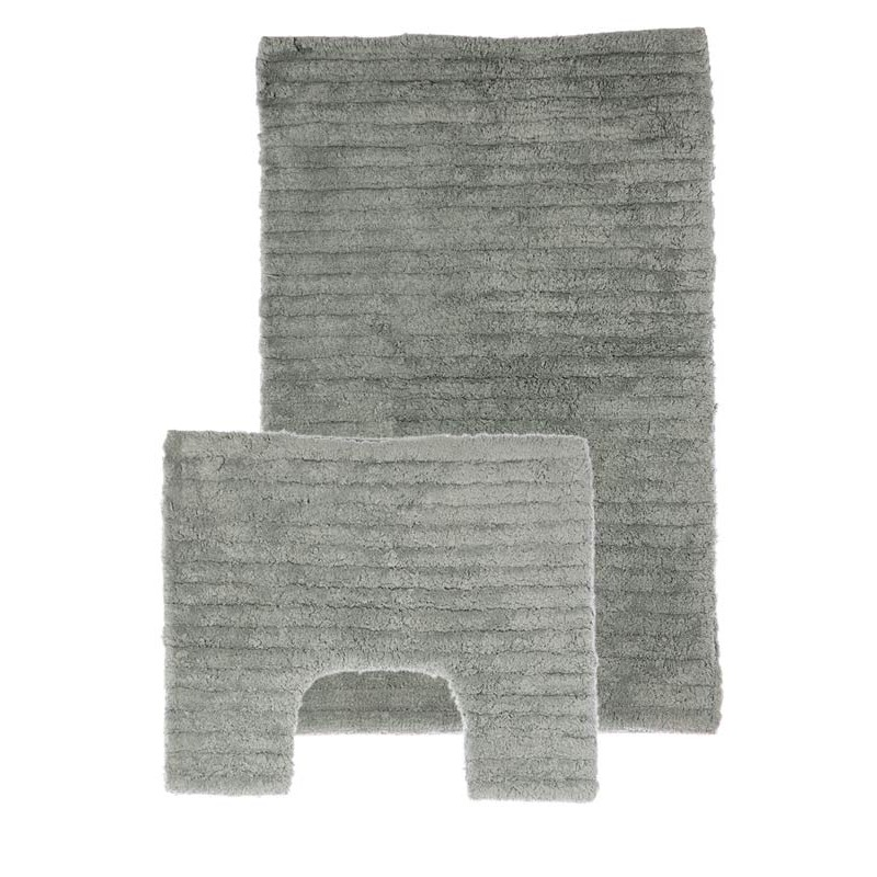 tapis de salle de bain contour wc gris. Black Bedroom Furniture Sets. Home Design Ideas