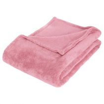 Plaid Polaire Microfibre 125x150cm Rose