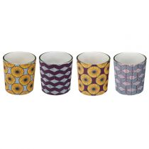 "Lot de 4 Photophores ""Tealight"" 7cm Multicolore"