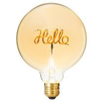 "Ampoule Décorative à Filament ""Hello"" 17cm Ambre"
