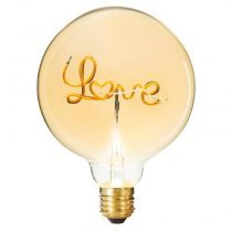 "Ampoule Décorative à Filament ""Love"" 17cm Ambre"