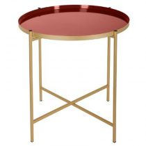 "Table d'Appoint ""Kylian"" 48cm Or & Terracotta"