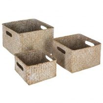 "Lot de 3 Paniers ""Seagrass"" 16cm Naturel"