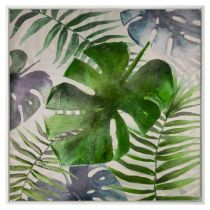 "Toile Peinte ""Jungle"" 78x78cm Multicolore"