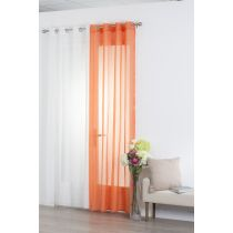"Voilage 140x240cm ""Rayure"" Orange"