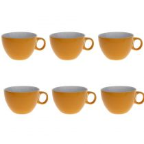 "Lot de 6 Tasses ""Colors"" 40cl Jaune"
