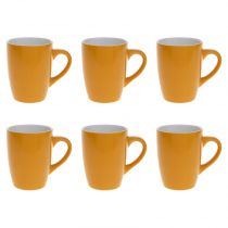 "Lot de 6 Mugs ""Colors"" 31cl Jaune"
