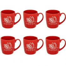 "Lot de 6 Mugs Ronds ""Aroma"" 30cl Rouge"
