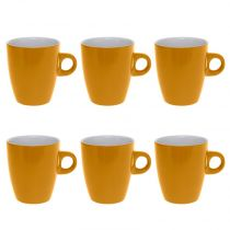 "Lot de 6 Mugs ""Colors"" 18cl Jaune"