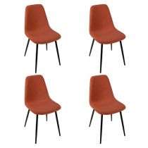 "Lot de 4 Chaises Design ""Nokas"" 86cm Terracotta"