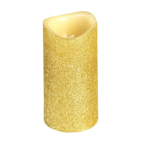 Bougie Votive Led Paillette Or