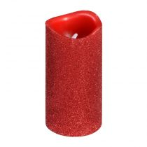 Bougie Votive Led Paillette Rouge