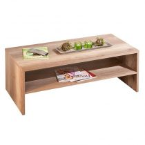 "Table Basse 2 Niveaux ""Swift"" 115cm Naturel"