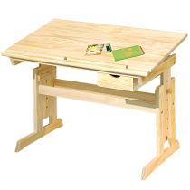 "Bureau Enfant Inclinable ""School"" 109cm Naturel"
