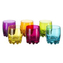 "Lot de 6 Verres Whisky ""Sylvana"" Multicolore"