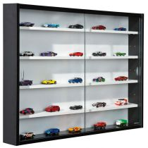 "Vitrine Murale Miniatures ""Collection"" 80cm Noir"