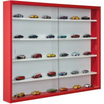 """Vitrine Murale Miniatures """"Collection"""" 80cm Rouge"""