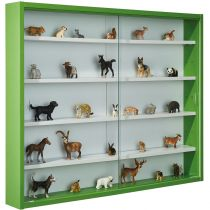 "Vitrine Murale Miniatures ""Collection"" 80cm Vert"