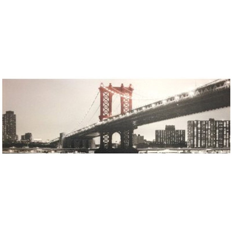 Toile imprim e new york brigde gris - Toile imprimee new york ...