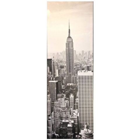 "Toile Imprimée New York ""Empire State"" Gris"