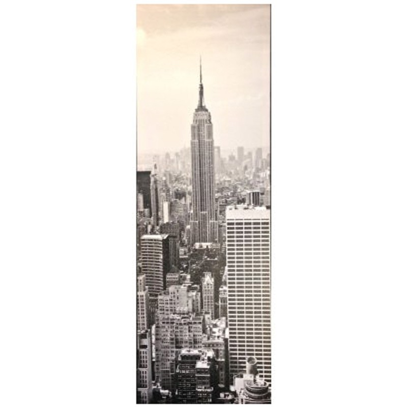 Toile imprim e new york empire state gris - Toile imprimee new york ...