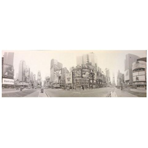 "Toile Imprimée New York ""Times Square"" Gris"