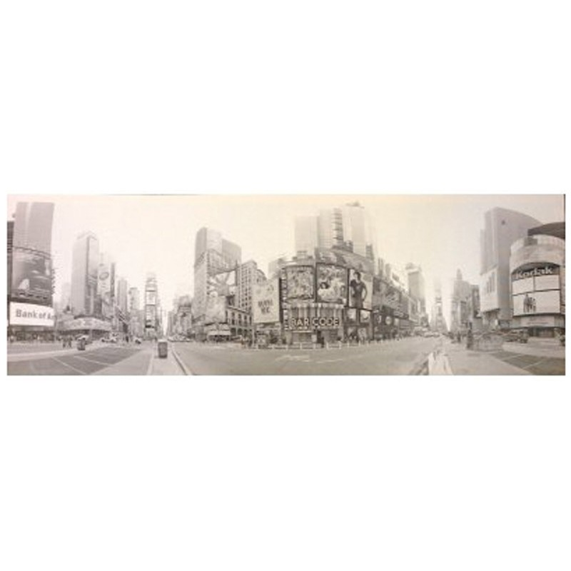 Toile imprim e new york times square gris - Toile imprimee new york ...