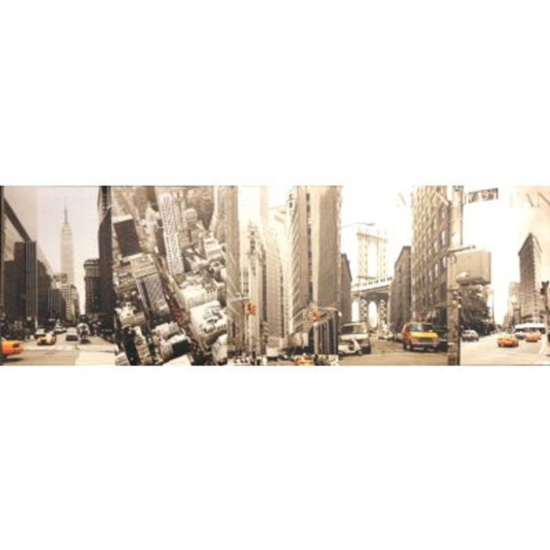 Toile imprim e new york city gris - Toile imprimee new york ...