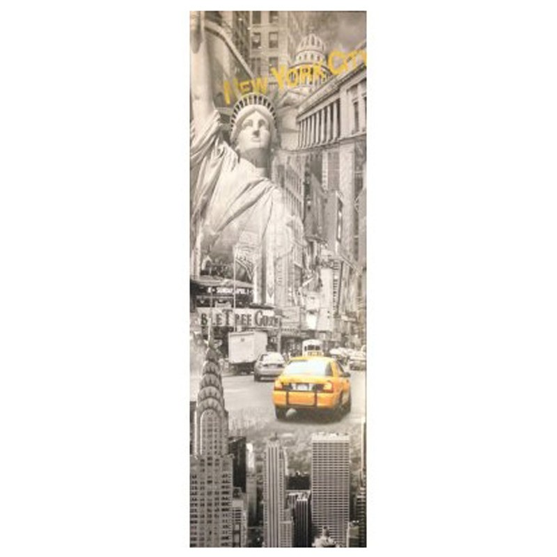 Toile imprim e new york us taxi gris - Toile imprimee new york ...