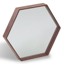 "Miroir Mural Design ""Enzo"" 46cm Naturel"