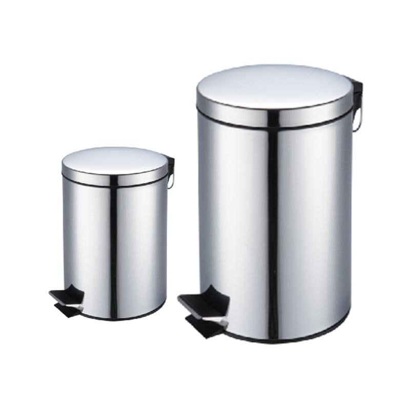 2 poubelles 20l 5l inox. Black Bedroom Furniture Sets. Home Design Ideas