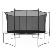 "Trampoline avec Filet de Protection ""Semi-Pro"" 427cm Noir"