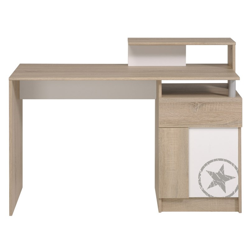 bureau enfant spirit ch ne brut beige. Black Bedroom Furniture Sets. Home Design Ideas
