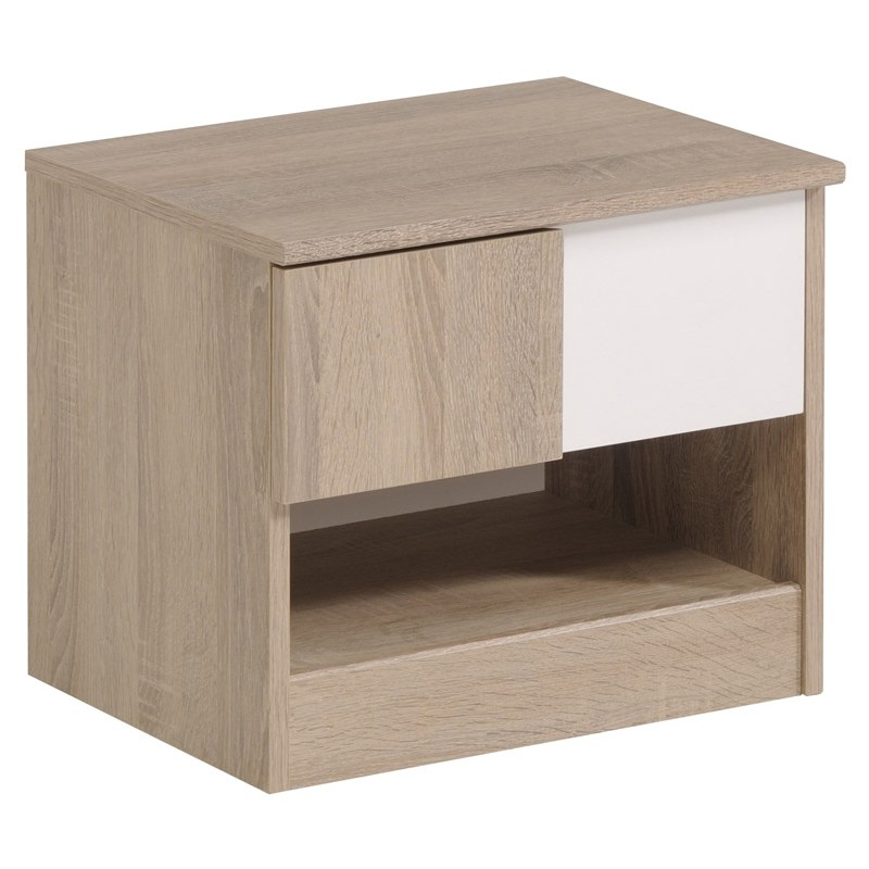 Chevet enfant spirit ch ne brut beige for Table en chene brut