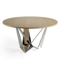 "Table à Manger Ronde Design ""Abril"" 150cm Chêne"