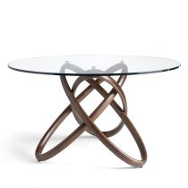 "Table à Manger Design ""Noemi"" 130cm Naturel"
