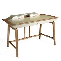 "Bureau en Bois Design ""Marcelo"" 156cm Naturel"