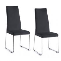 "Lot de 2 Chaises Design ""Xavier"" 104cm Noir"