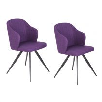"Lot de 2 Chaises Design ""Sancho"" 82cm Violet"