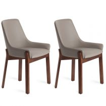 "Lot de 2 Chaises Design ""Tessa"" 80cm Taupe"
