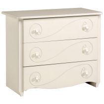 "Commode 3 Tiroirs ""Betty"" Blanc"